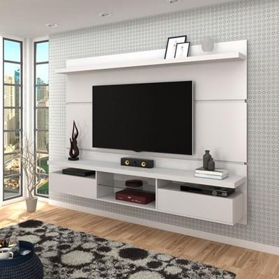 Painel Bancada Suspensa para TV até 60 Pol. 2.2 Lívia B04 Branco - Mpozenato