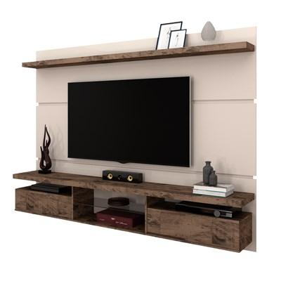 Painel Bancada Suspensa para TV até 60 Pol. 2.2 Lívia B04 Off White/Deck - Mpozenato
