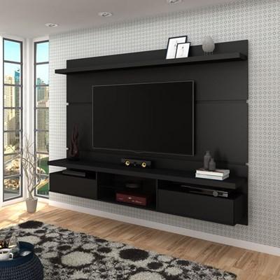 Painel Bancada Suspensa para TV até 60 Pol. 2.2 Lívia B04 Preto Fosco - Mpozenato