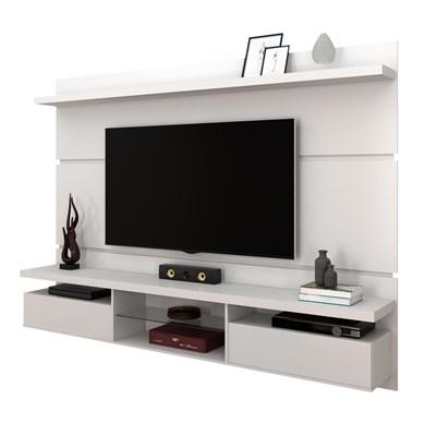 Painel Bancada Suspensa para TV até 60 Pol. 2.2 Lívia H01 Branco - Mpozenato