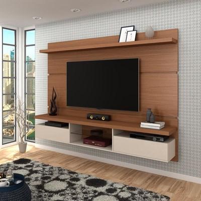 Painel Bancada Suspensa para TV até 60 Pol. 2.2 Lívia H01 Nature/Off White - Mpozenato