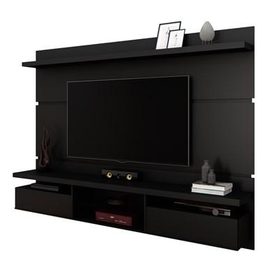 Painel Bancada Suspensa para TV até 60 Pol. 2.2 Lívia H01 Preto Fosco - Mpozenato