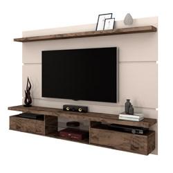 Painel Bancada Suspensa para TV até 60 Pol. 2.2 Lívia Off White/Deck -