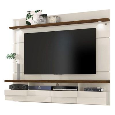 Painel Bancada Suspensa Para TV até 60 Pol. Lana 1.8 Off White/Savana - Madetec