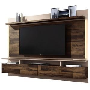 Painel Bancada Suspensa Para TV até 60 Pol. Limit 2.2 Deck/Off White - HB Móveis