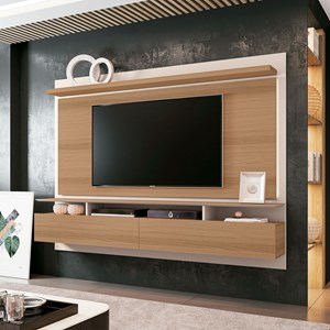 Painel Bancada Suspensa Para TV até 60 Pol. Limit 2.2 Freijó/Off White - HB Móveis