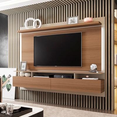 Painel Bancada Suspensa Para TV até 60 Pol. Limit 2.2 Nature/Off White - HB Móveis