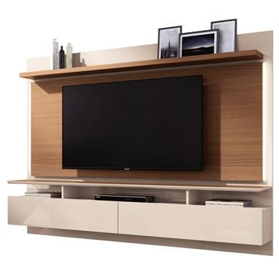Painel Bancada Suspensa Para TV até 60 Pol. Limit 2.2 Off White/Nature - HB Móveis
