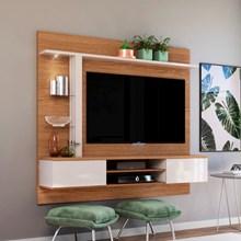 Painel Bancada Suspensa Para TV até 60 Pol. Salinas Natura/Off White - Colibri