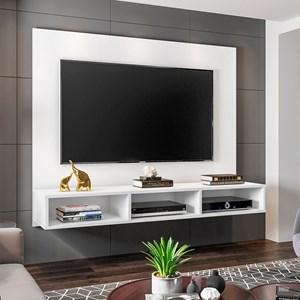 Painel Bancada Suspensa para TV de até 50 Polegadas Quartzo Branco - Móveis Leão