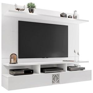 Painel Bancada Suspensa para TV de até 55 Polegadas Amsterdã Branco - Móveis Leão