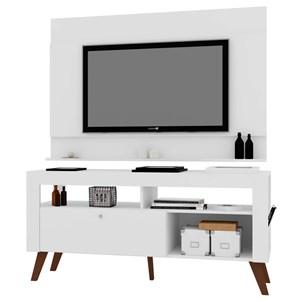 Painel Dakota com Rack Montreal para TV até 55 Pol. Branco - Art in Móveis