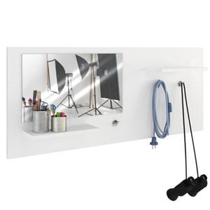 Painel Decorativo com Espelho Look Branco - Estilare
