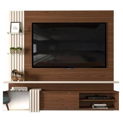 Painel Home Suspenso para TV até 55 Pol. Galina Caiena/Creme - Dj Móveis
