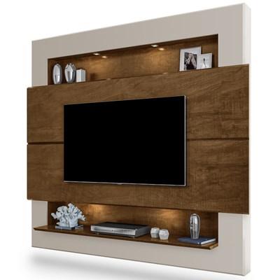 Painel Home Suspenso Para TV Até 60 Pol. Riviera Malbec/Off White - Móveis Lupi