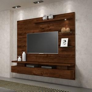 Painel Home Suspenso para Tv até 65 Polegadas Grécia Trufa - DJ Móveis