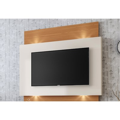 Painel Home Suspenso para TV com LED TB120L Off White/Freijó - Dalla Costa