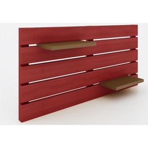 Painel Horizontal Componível Stain Vermelho - Mão & Formão