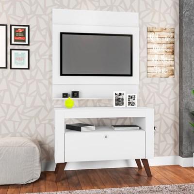 Painel Ontário com Rack Toronto para TV até 36 Pol. Branco - Art in Móveis