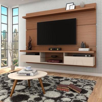Painel para TV Lívia 2.2 e Mesa de Centro Solaris H01 Nature/Off White - Mpozenato