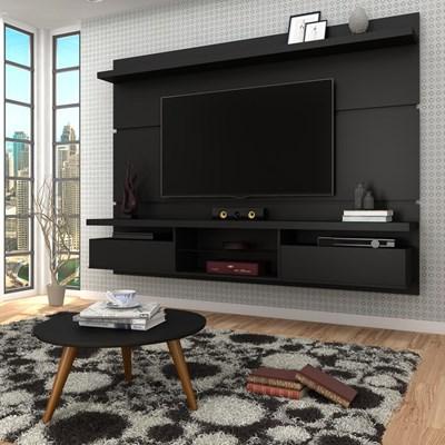 Painel para TV Lívia 2.2 e Mesa de Centro Solaris H01 Preto Fosco - Mpozenato