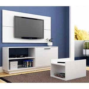 Painel para TV Rack e Mesa de Centro BR 398 Branco – BRV Móveis