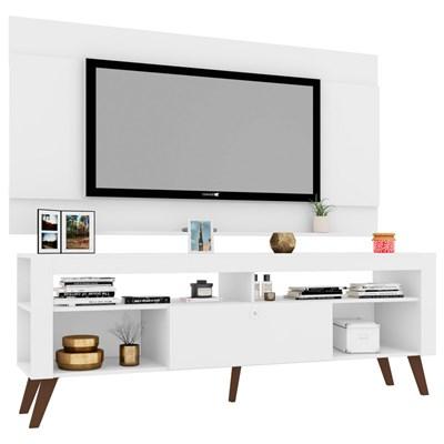 Painel Seattle com Rack Quebec para TV até 60 Pol. Branco - Art in Móveis