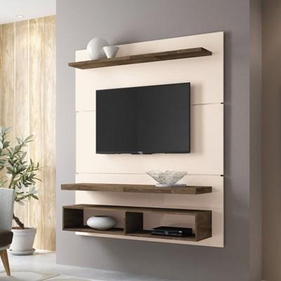 Painel Suspenso com Bancada Life 1.3 Off White/Deck - HB Móveis