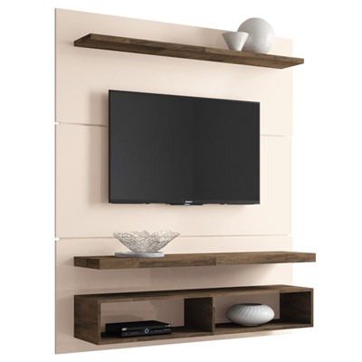 Painel TV Life 1.3 com Mesa de Centro Lucy e Aparador Quad Deck/Off White - HB Móveis