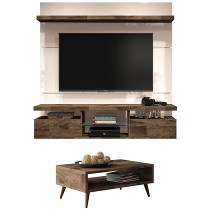 Painel TV Livin 1.6 com Mesa de Centro Lucy Deck/Off White - HB Móveis