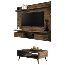 Painel TV Livin 1.8 com Mesa de Centro Lucy Deck - HB Móveis