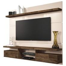 Painel TV Livin 1.8 com Mesa de Centro Lucy Off White/Deck - HB Móveis