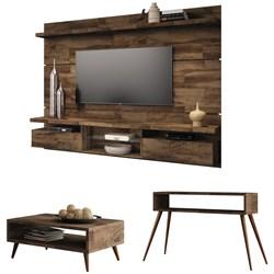 Painel TV Livin 2.2 com Mesa de Centro Lucy e Aparador Quad Deck - HB