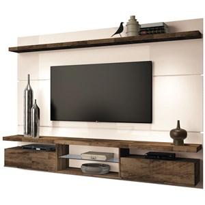 Painel TV Livin 2.2 com Mesa de Centro Lucy e Aparador Quad Deck/Off White - HB Móveis