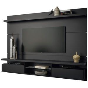 Painel TV Livin 2.2 com Mesa de Centro Lucy e Aparador Quad Preto - HB Móveis
