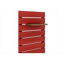Painel Vertical Componível Stain Vermelho - Mão & Formão
