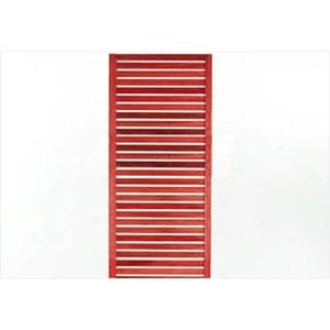 Painel Vertical Zen Estreito Stain Vermelho - Mão e Formão