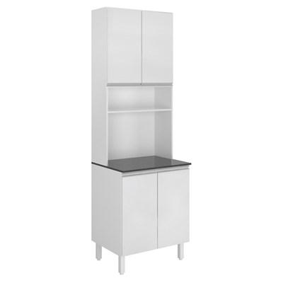 Paneleiro Duplo para Micro-Ondas 4 Portas Kali Premium 3097 Branco - Nicioli