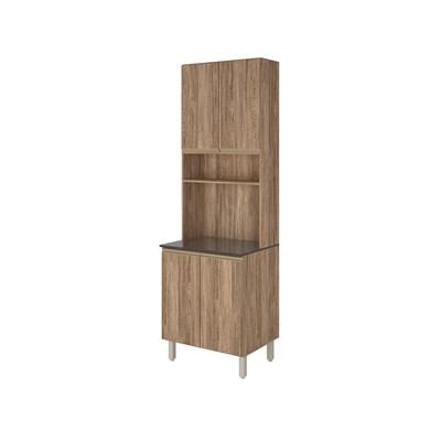 Paneleiro Duplo para Micro-Ondas 4 Portas Kali Premium 3097 Carvalho Rústico - Nicioli