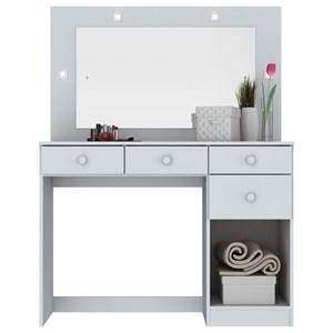 Penteadeira Camarim Chanel com Espelho e LED Branco - Henn