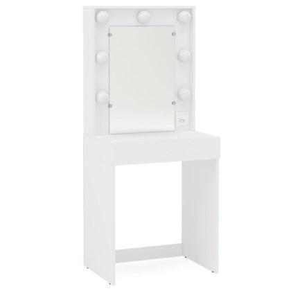 Penteadeira Camarim com Espelho 1 Gaveta Lavínia Branco - Politorno