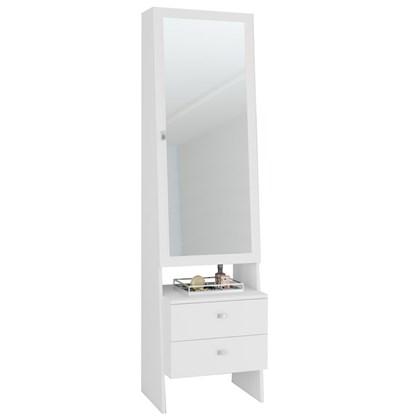 Penteadeira com Espelho 1 Porta 2 Gavetas PE2008 Branco - Tecno Mobili