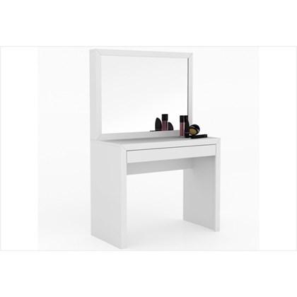 Penteadeira com Espelho e 01 Gaveta PE2000 Branco - Tecno Mobili