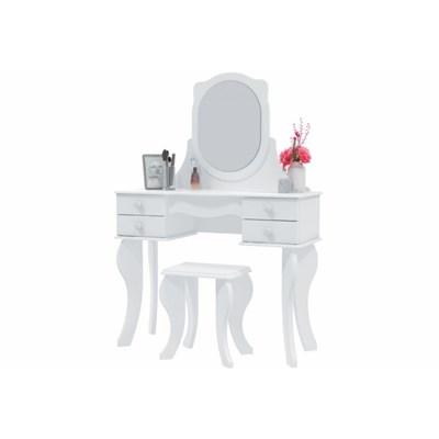 Penteadeira Princesa 04 Gavetas e Banqueta Branco - Patrimar Móveis
