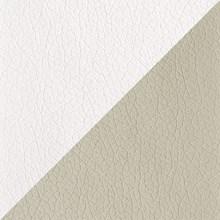 Poltrona de Amamentação com Balanço e Puff Letícia Branco/Bege - Phoenix