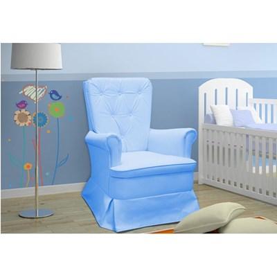 Poltrona de Amamentação com Balanço Valentina Azul Claro - Phoenix Baby