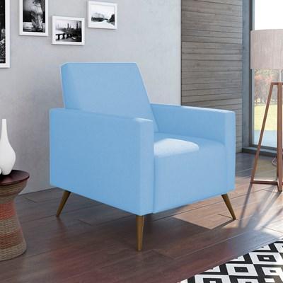 Poltrona de Amamentação Fixa Gabi Corano Azul Bebê - Phoenix