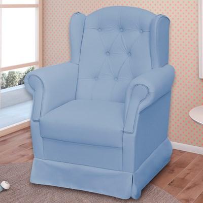 Poltrona de Amamentação Fixa Letícia Azul Bebê - Phoenix Baby