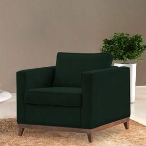 Poltrona Decorativa Aspen Suede Verde Musgo - D'Monegatto