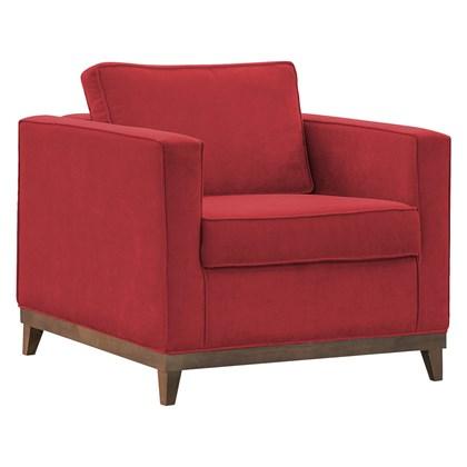 Poltrona Decorativa Aspen Suede Vermelho - D'Monegatto